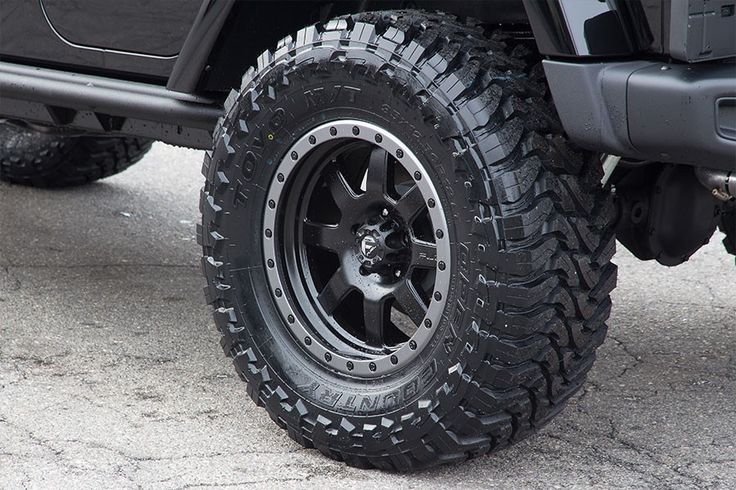 "Fuel Trophy D551 17"" x 9"" Wheels and 35x12.50x17 Toyo Open Country MT Tires"