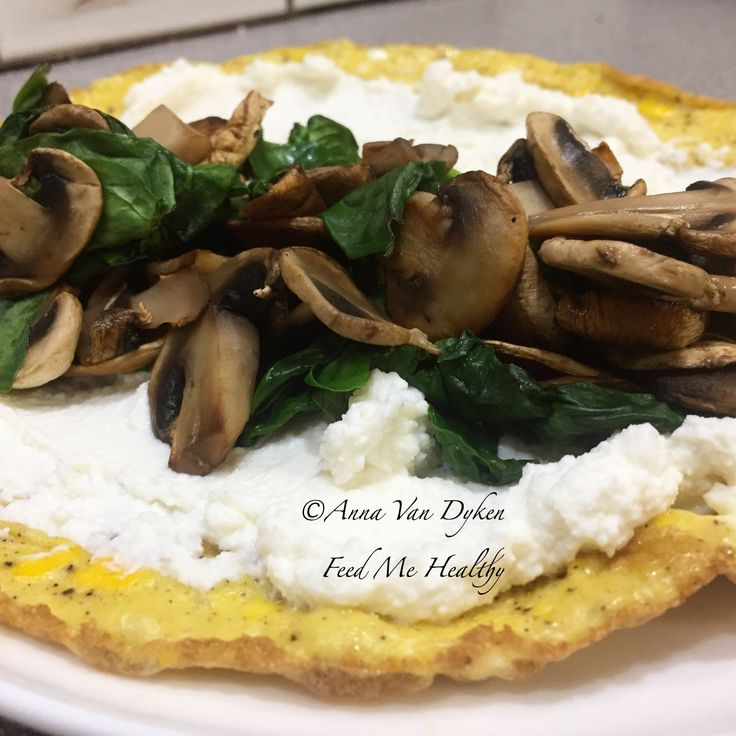 Egg Crepe Filled With Ricotta Mushroom