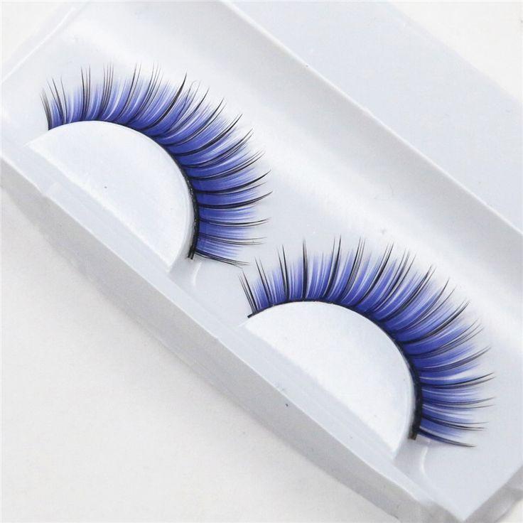1 paires couleur exagérée de mode discothèque maquillage faux cils faux cils dans Faux Cils de Beauté & Santé sur AliExpress.com | Alibaba Group
