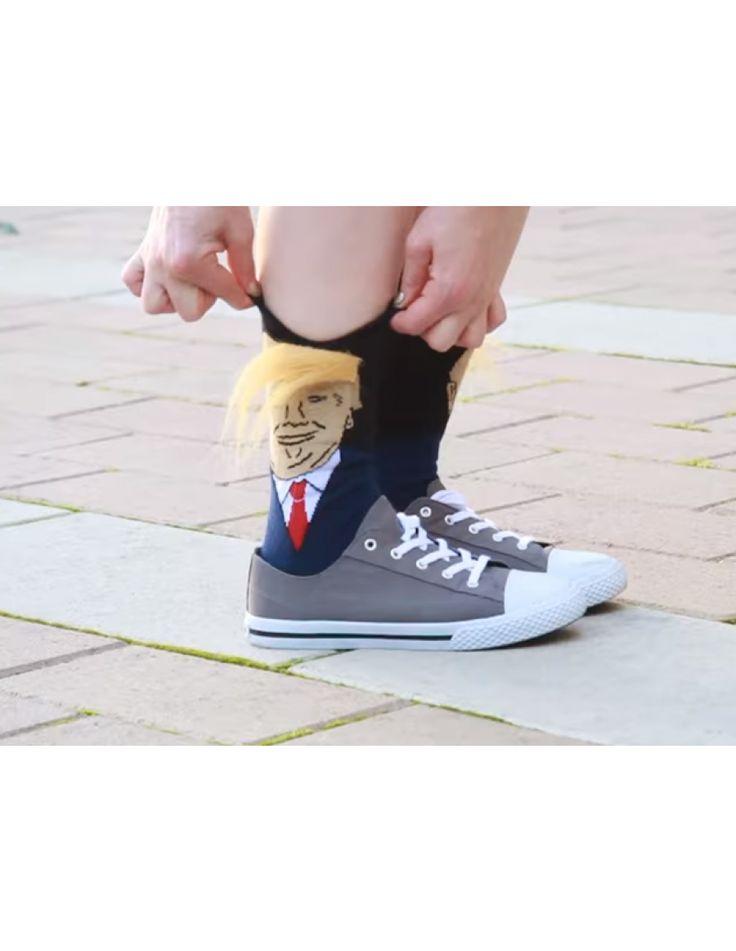 Gag gift: Donald Trump combover hair socks