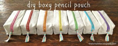 "That's My Letter: ""B"" is for Boxy Pencil Pouches"