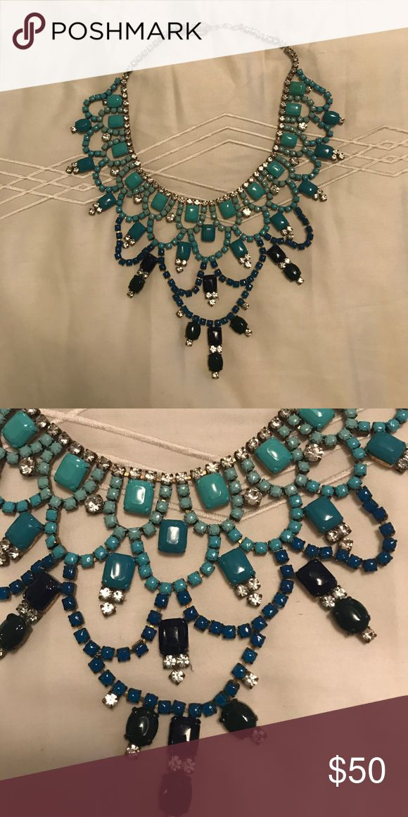 Handmade beautiful necklace!! (Not KS) From a local women who handmakes beautiful jewelry. Turquoise, blue, and navy stones!! Never worn! Not Kendra Scott just similar to her style! Kendra Scott Jewelry Necklaces