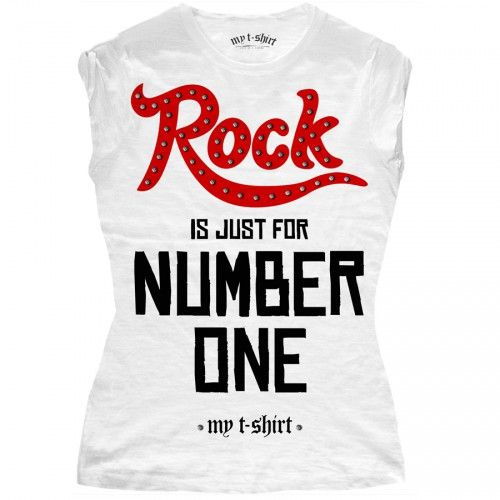 "T-SHIRT DONNA ""ROCK IS JUST"""