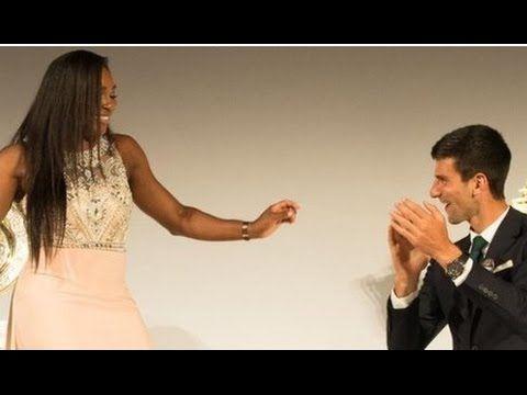 Serena Williams and Novak Djokovic Wimbledon Champions Dance at Wimbledo...