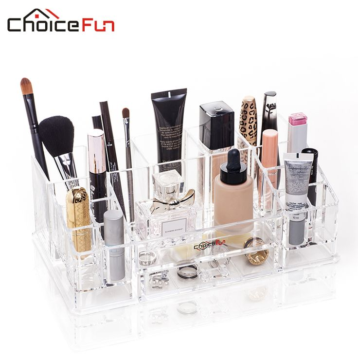 Plastic Cosmetic Acrylic Makeup/Jewelry Organizer and Storage //Price: $27.29 & FREE Shipping //   #makeuptools