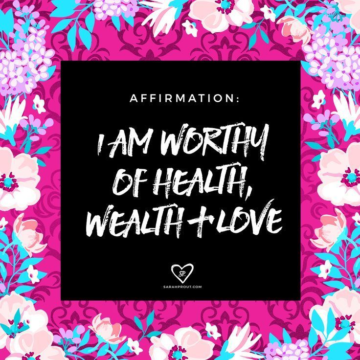 #affirmation: I am worthy of health, wealth and love. When you say this over and over again you imprint your subconscious mind and the Universe begins to respond. Practice self love | self care.