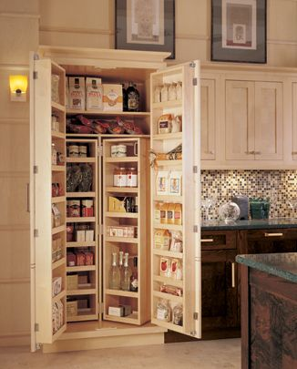 Pantry closet kitchen designs by ken kelly wood mode for Kitchen cabinets queens