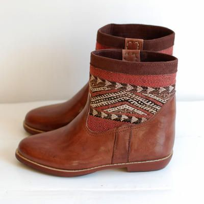 Keliboots ankle size 41 - Kilim boots, hamam towels, kilim & ikat pillows - urban ethnic fashion & interior