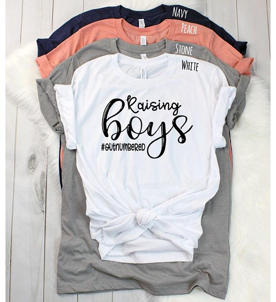 3c3db78ec149 Raising Boys T Shirt - Pregnancy Reveal Shirt - Boys Only - Boy Mom Shirt -