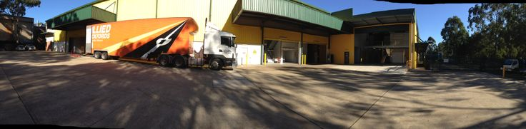 Our room for large trucks and big unloading bays is one of the the things that separates us from our competitors.