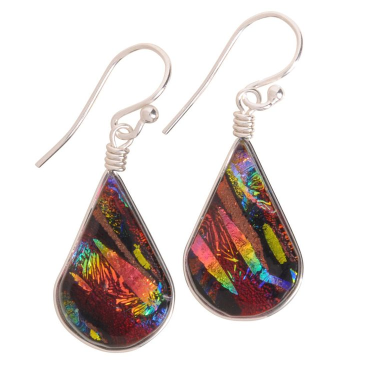 Rainbow Falls Nickel Free Earrings are stunning with their amazing depth of reflective colors. The ideal nickel free, hypoallergenic, handmade, gift of the season.