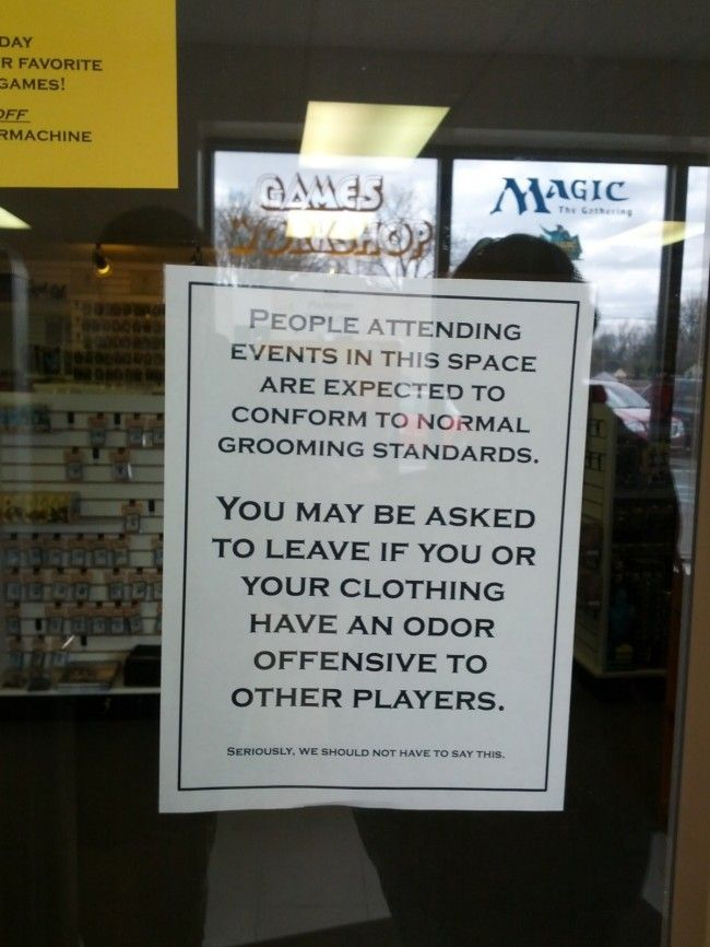 This Sign Posted Outside A 'Magic: The Gathering' Tournament Confirms Every 'Magic' Stereotype