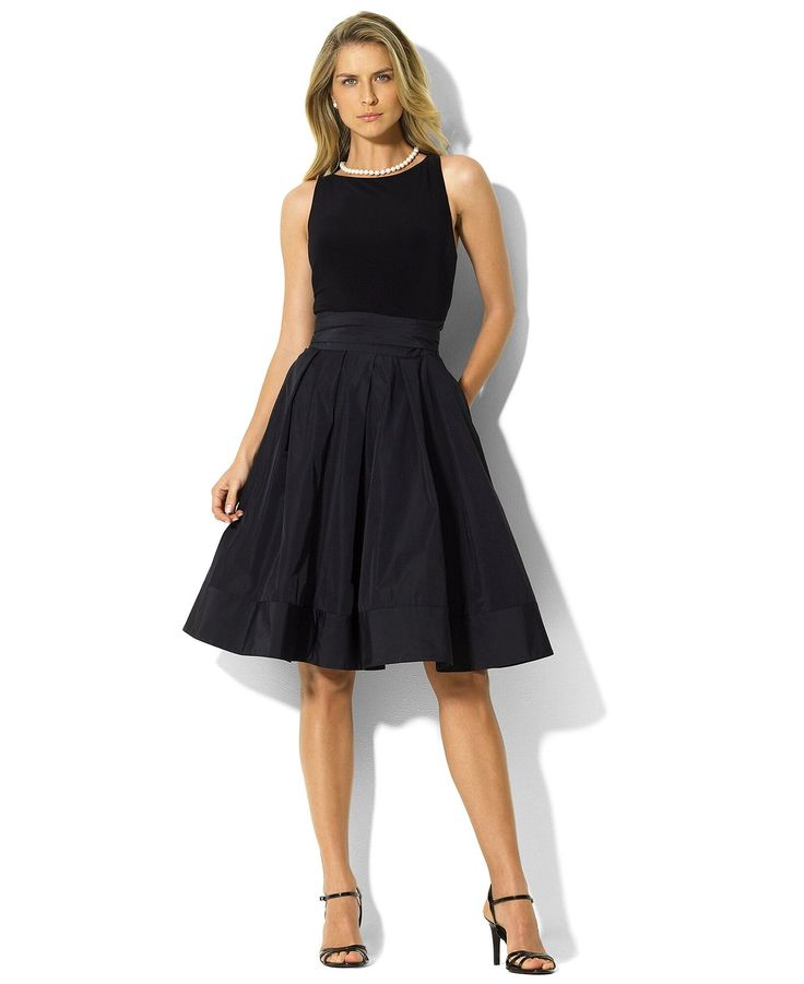 Lauren by Ralph Lauren Dress, Pleated Cocktail Dress - Womens Dresses - Macys