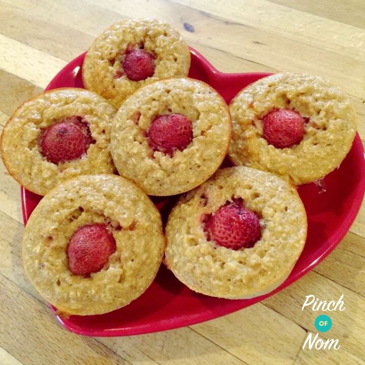 Summer Strawberry Oat Muffins   Slimming World - Powered by @ultimaterecipe