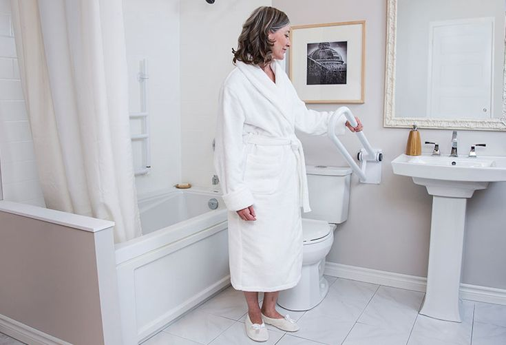 HealthCraft's PT Rail is the perfect toilet safety rail to provide support and comfort during transitional movements. Unlike other bathroom safety rails, the PT Rail is designed with an innovative offset rail to avoid wrist strain when you're sitting down or pulling yourself up from a seated position. The PT Rail is also easily stored; simply lift the rail until it is flush against your bathroom walls. The toilet safety rail also features strong compression hinges to keep the rail from…