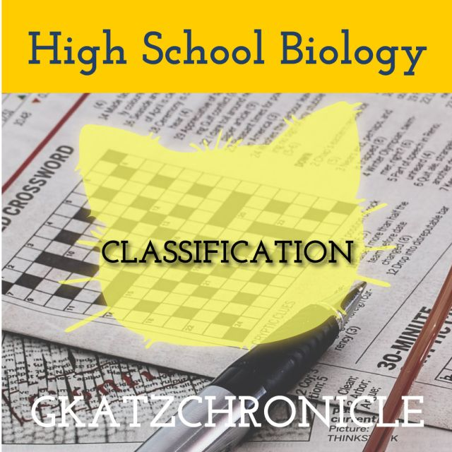 Classification Review Crossword Teacher Presentations Classification Student