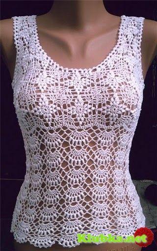 beautiful crocheted top
