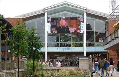Shopping - Outside Chapelfield Shopping Centre