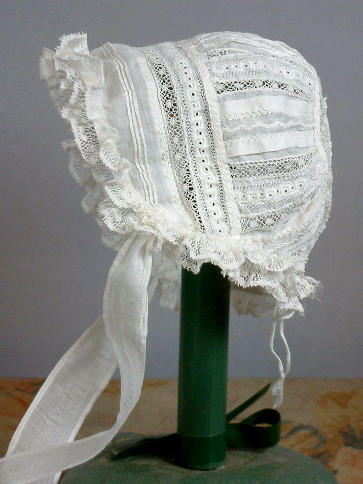 1000 Images About Lace Bonnets On Pinterest Antique