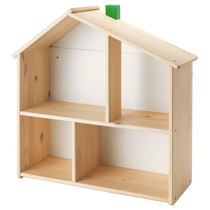 IKEA - FLISAT, Doll house/wall shelf, , This doll's house lets your child make a home for their dolls and play with them.When your child grows up, the doll's house can be used as a shelf for books, photos or other items that your child wants to display.