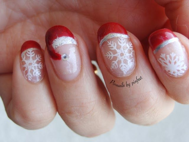 PinNails: Christmas Red Nails 2 + Stamping