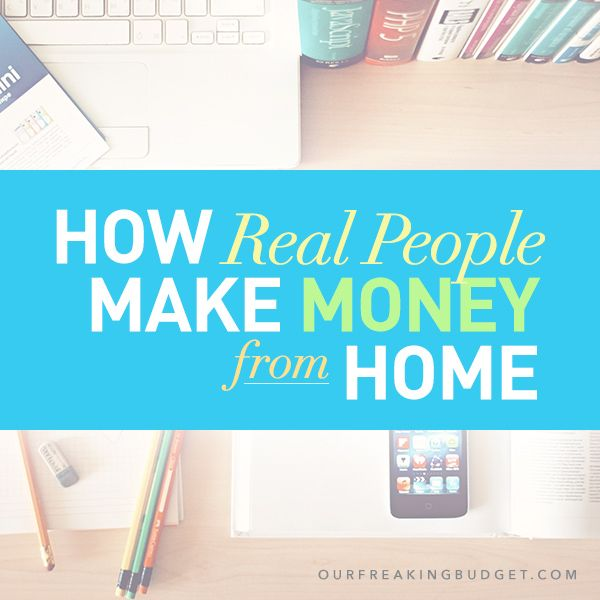 A list showing over 40 ways that real people make money from home!