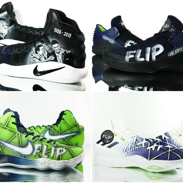 Honored to do customs for the ENTIRE @timberwolves team for FLIP SAUNDERS night tonight on @nbaontnt vs the Lakers! During the game all pairs will be auctioned off for Charity! Keep your eyes peeled to see these on court. Amazing to be part of such a huge and meaningful night! #Teamkickstradomis #timberwolves