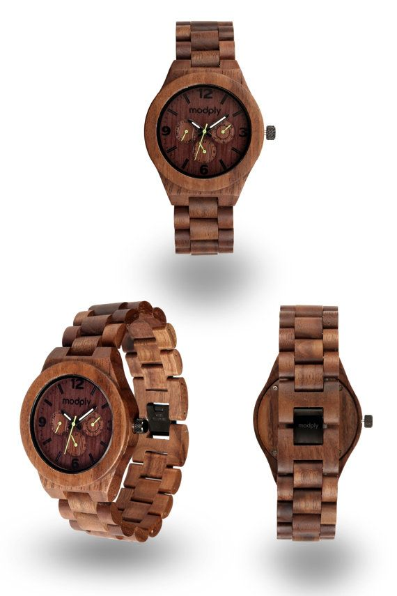 HOLIDAY SALE: Handmade Mens Wood Watch Man Wooden Watch by Modply