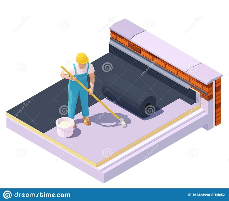 Best Vector Isometric Worker At Flat Roof Insulation Stock 400 x 300