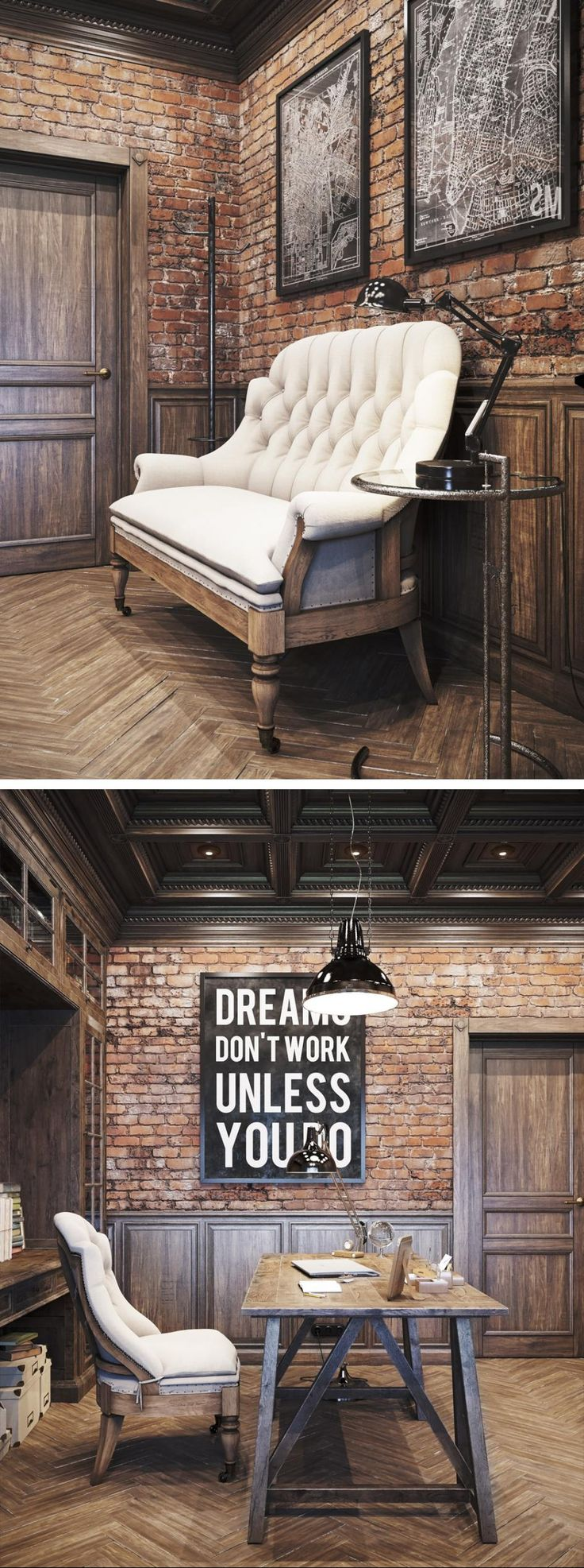 Vintage working room - Галерея 3ddd.ru