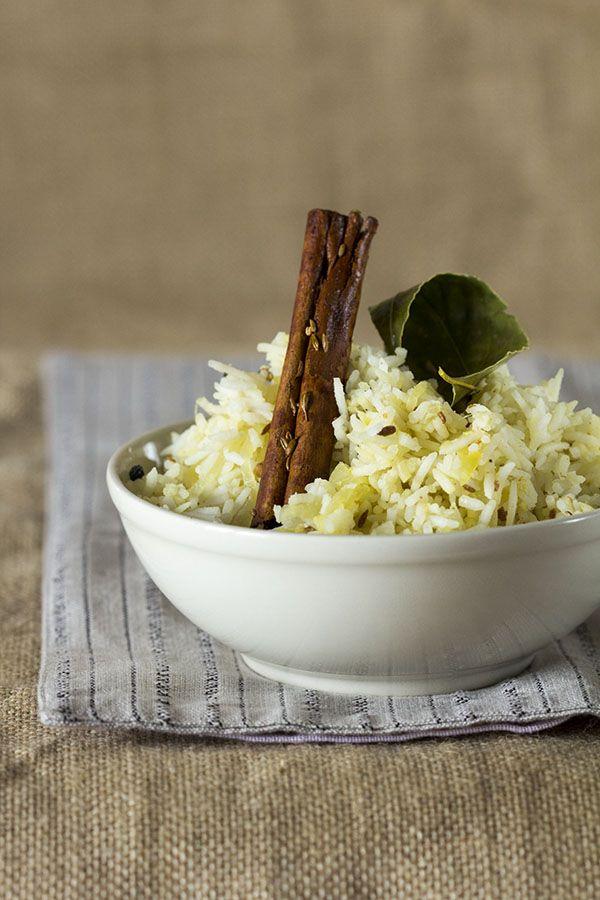 pulao arasta, arroz aromático, receta pakistaní baja- arroz Basmati-Pilaf