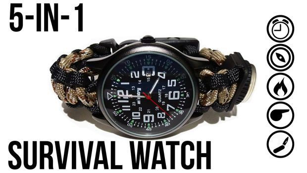 """The Ultimate Survival Watch - """"In this tutorial I'll show you how to make the ultimate 5-in-1 survival watch for around $20. ..."""" : by KyleTheCreator -  instructables"""