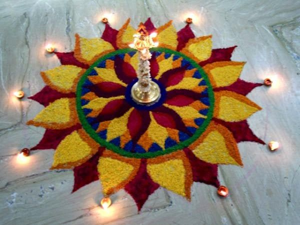 Award winning rangoli designs competition google search for Simple diwali home decorations