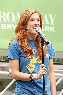 Anneliese van der Pol performing in Bryant Park
