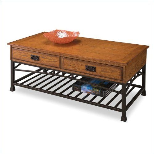Home Style 5050-21 Modern Craftsman Coffee Table, Distressed Oak  - Click image twice for more info - See a larger selection of living room  tables at  http://zcoffeetables.com/product-category/living-room-tables/- home, home decor, home ideas, living room, furniture, table ,gift ideas