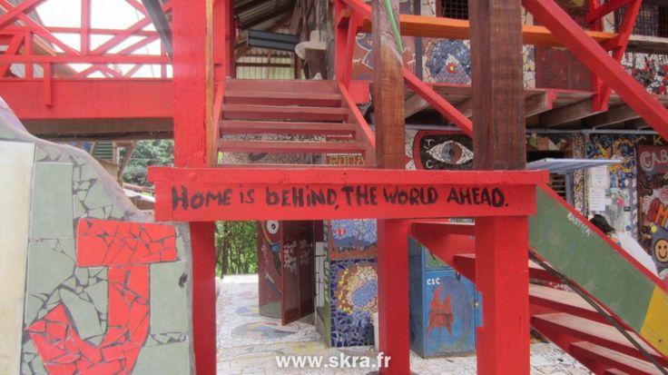 une belle citation de voyage dans une auberge du Costa Rica