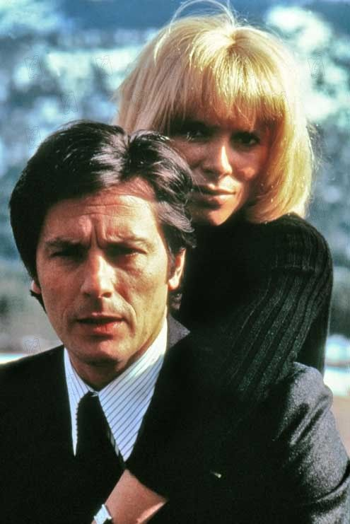 Mireille Darc and Alain Delon