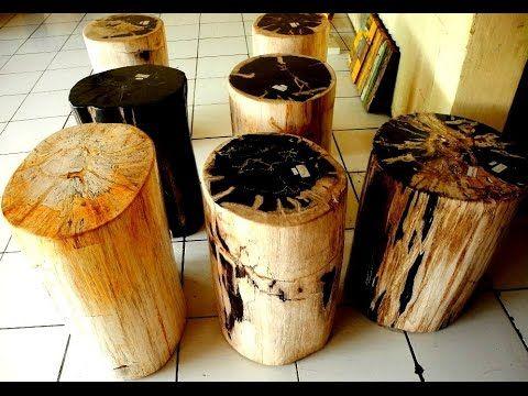 Petrified Wood Stump Table - YouTube