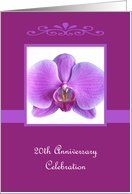 20th Wedding Anniversary Party Invitation -- Elegant Orchid Card by Greeting Card Universe. $3.00. 5 x 7 inch premium quality folded paper greeting card. Wedding Anniversary invitations & photo Wedding Anniversary invitations are available at Greeting Card Universe. Wedding Anniversary invitations are always more memorable when they are sent the old-fashioned way. Allow Greeting Card Universe to handle all your Wedding Anniversary invitation needs this year. This paper card...