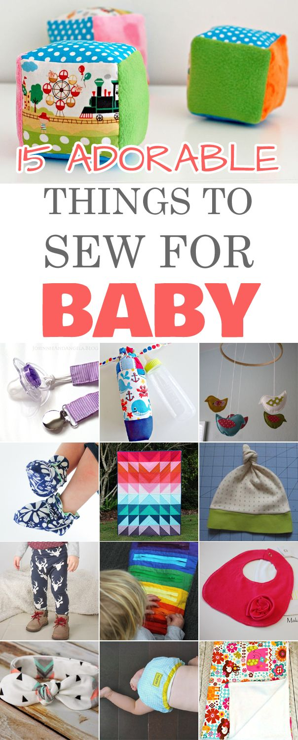 15 Adorable Things to Sew for Baby