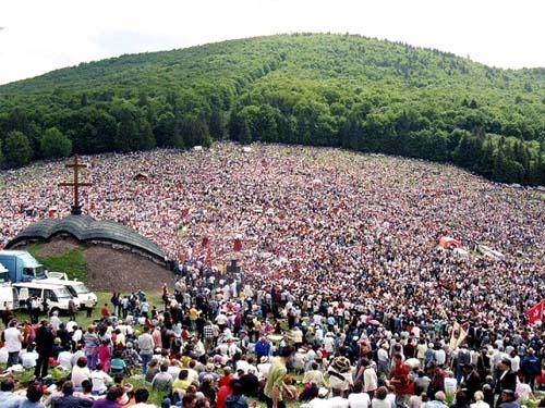 Hungarian Catholics in Csiksomlyo, Transylvania, Romania