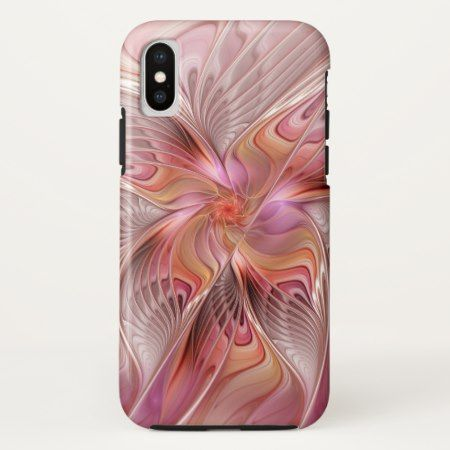 Abstract Butterfly Colorful Fantasy Fractal Art iPhone X Case - click/tap to personalize and buy