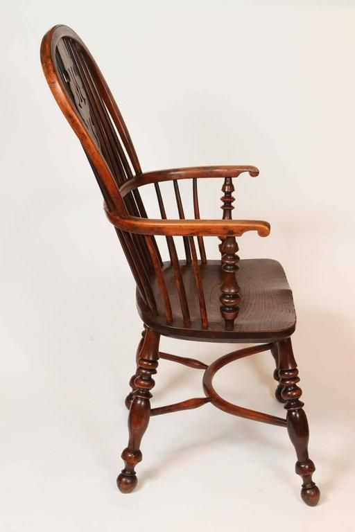An English Windsor Armchair with Crinoline Stretcher, circa 1825 6