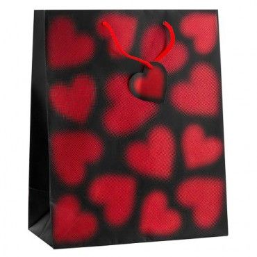 Large Gift Bag With Foil Hearts