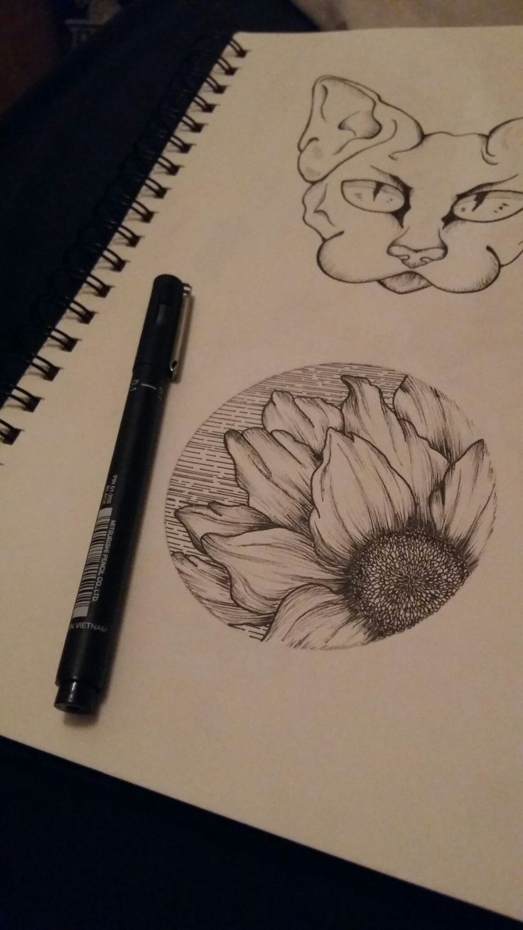 Sunflower circle tattoo design.