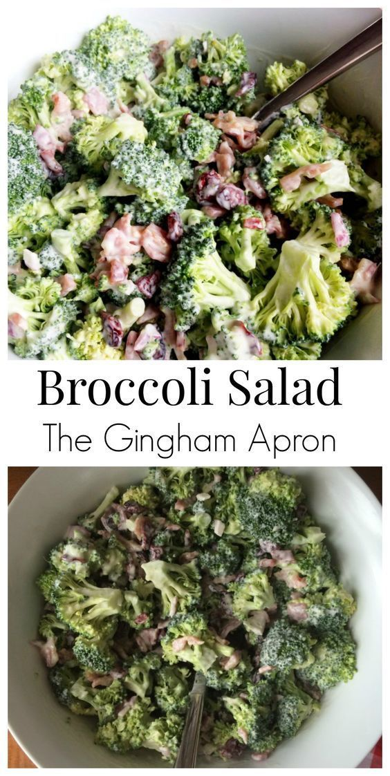Broccoli Salad- a great addition to a summer meal. Loaded with bacon, Craisins, sunflower seeds, and a super delicious dressing.