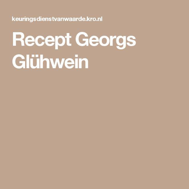 Recept Georgs Glühwein