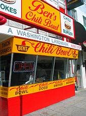 Ben's Chili Bowl - love the half-smoke.