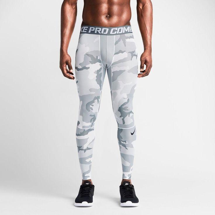 New mens nike pro combat hypercool compression camo tights