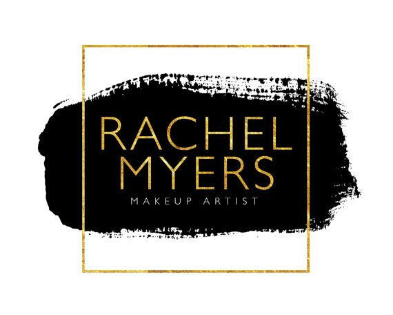 Beauty Logo, Watercolor Logo, Feminine Logo, Makeup Artist Logo, Gold Logo, Hairstylist Logo, Logo Set, Premade Logo, Logo Design